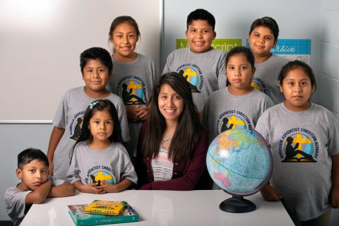 Riverview School students with their teacher, Vanessa Aguilar | PC: Joshua Perdoza